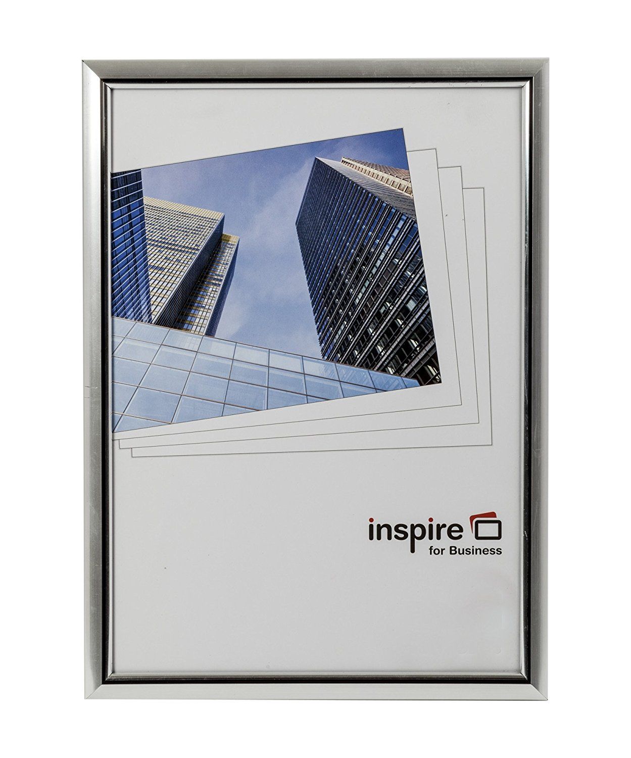 Photo Album Inspire For Business Certificate A4 Back Loader Silver Frame