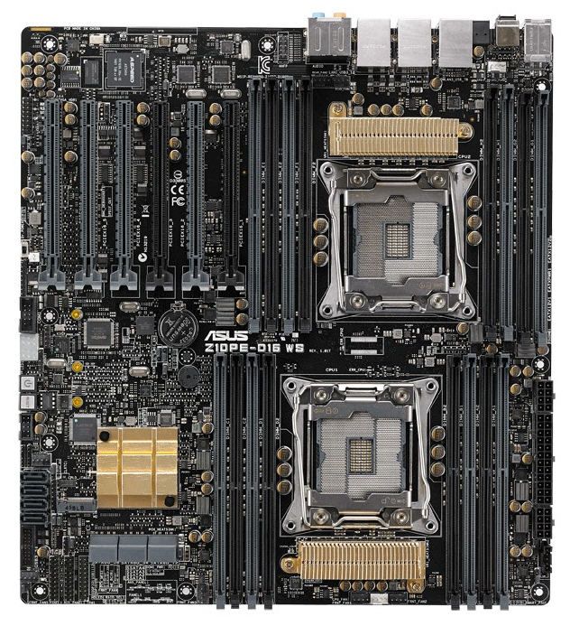 ASUS Z10PE-D16 WS server/workstation motherboard LGA 2011-v3 Intel® C612 SSI EEB