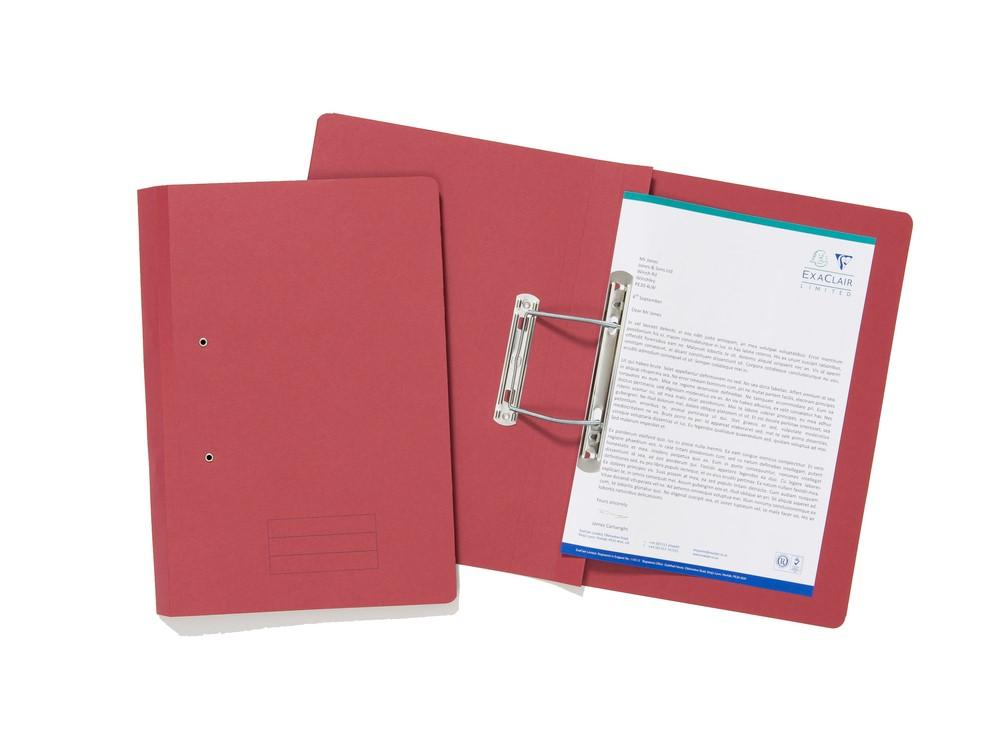 Exacompta Value Transfer File Foolscap Red TFM-REDZ - (PK25)