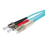 Cablenet 2m OM3 50/125 LC-ST Duplex Aqua LSOH Fibre Patch Lead