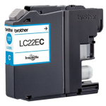 Brother LC-22EC Ink cartridge cyan, 1.2K pages, 12ml LC22EC