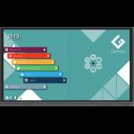 "Genee TOU090010 interactive whiteboard 165.1 cm (65"") 3840 x 2160 pixels Touchscreen Black"