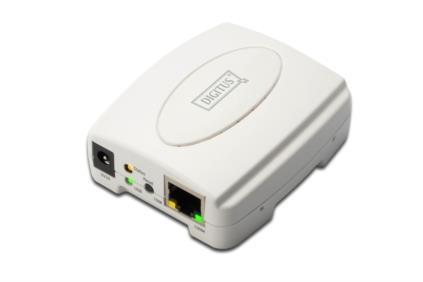 Digitus USB Print Server Ethernet LAN White