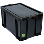 REALUSE REALLY USEFUL 84 LITRE RECYCLED BOX BLK