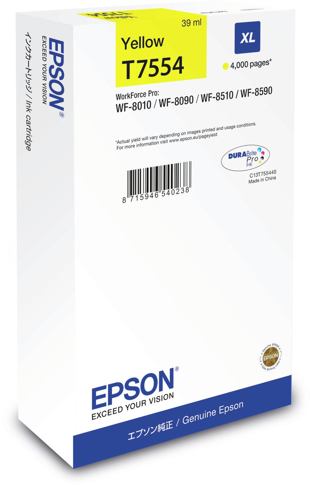 Epson Ink Cartridge XL Yellow