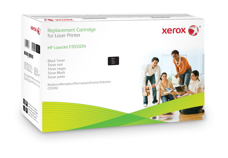 Xerox Cartucho de tóner negro. Equivalente a HP CE505X. Compatible con HP LaserJet P2055