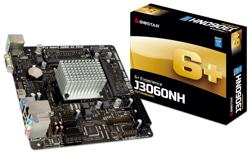 Biostar Motherboard J3060NH Celeron J3060 Quad-Core DDR3 SATA PCI Express USB Mini-ITX Retail Mini ITX motherboard
