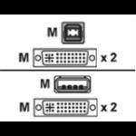 Vertiv USB keyboard / mouse / dual head DVI-I video cable 1.8m KVM cable