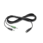 POLY 44877-02 audio cable 2 x 3.5mm Black
