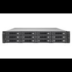 QNAP TS-EC1280U R2 NAS Rack (2U) Ethernet LAN Black,Grey
