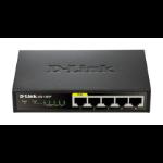 D-Link DES-1005P/E netwerk-switch Unmanaged L2 Fast Ethernet (10/100) Zwart Power over Ethernet (PoE)