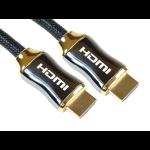 Cables Direct HDMI/HDMI M/M 2m HDMI cable HDMI Type A (Standard) Black, Gold
