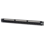 Tripp Lite 24-Port 1U Rack-Mount Cat5e Feedthrough Patch Panel, RJ45 Ethernet