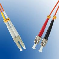 Microconnect LC/PC-ST/PC 2m fibre optic cable Orange