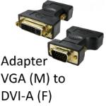 VGA (M) to DVI-A (F) Black Adapter
