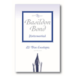 Basildon BOND SMALL ENVELOPE BLUE PK20