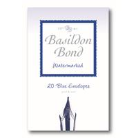 Basildon BOND SMALL ENVELOPE BLUE PK20