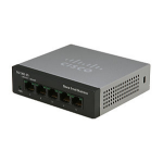 Cisco Small Business SF110D-05 Unmanaged network switch L2 Fast Ethernet (10/100) Black