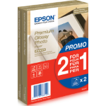 Epson Premium Glossy Photo Paper - 10x15cm - 2x 40 Sheets