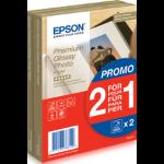 Epson Premium Glossy Photo Paper - 10x15cm - 2x 40 Vellen