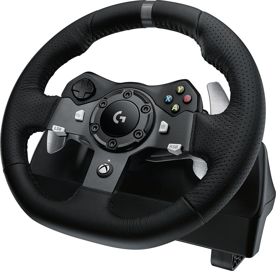 Logitech G G920 Aluminium, Black USB Steering wheel + Pedals PC, Xbox One