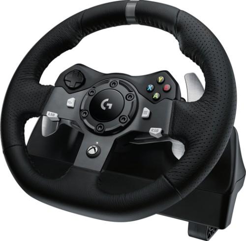 Logitech G G920 Driving Force Aluminium, Black USB Steering wheel + Pedals PC, Xbox One