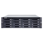 QNAP TS-1683XU-RP E-2124 Ethernet LAN Rack (3U) Black NAS TS-1683XU-RP-E2124-16G/192TB-EXOS