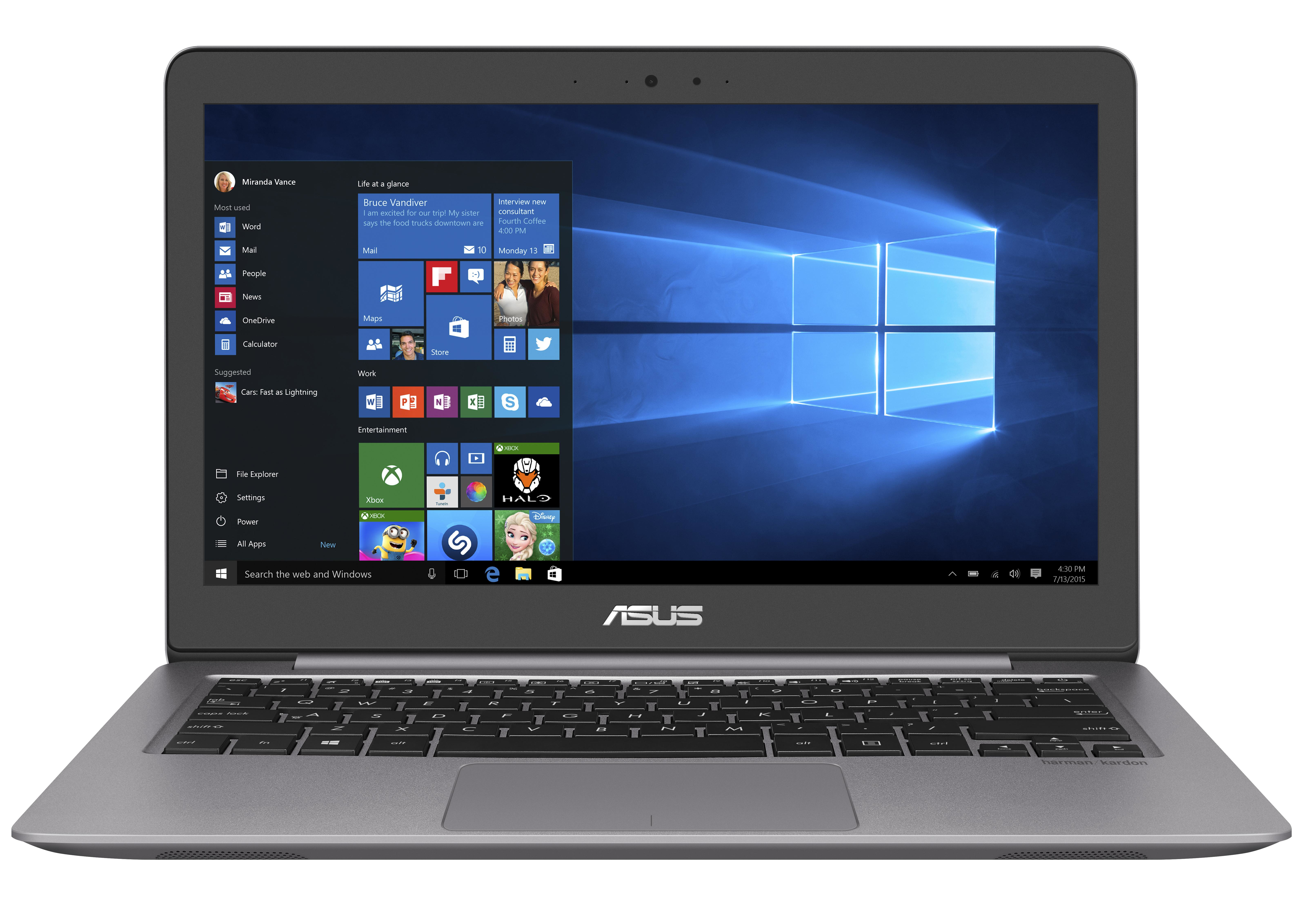"ASUS ZenBook UX310UA-FB097T 2.5GHz i7-6500U 13.3"" 3200 x 1800pixels Grey notebook"