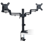 "Tripp Lite Dual Full Motion Flex Arm Desk Clamp for 13"" to 27"" Monitors"