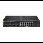 Hewlett Packard Enterprise Aruba 6100 12G Class4 PoE 2G/2SFP+ 139W Managed L3 Gigabit Ethernet (10/100/1000) Power over Ethernet (PoE) 1U Black