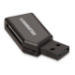 Manhattan 101677 USB 2.0 Black card reader