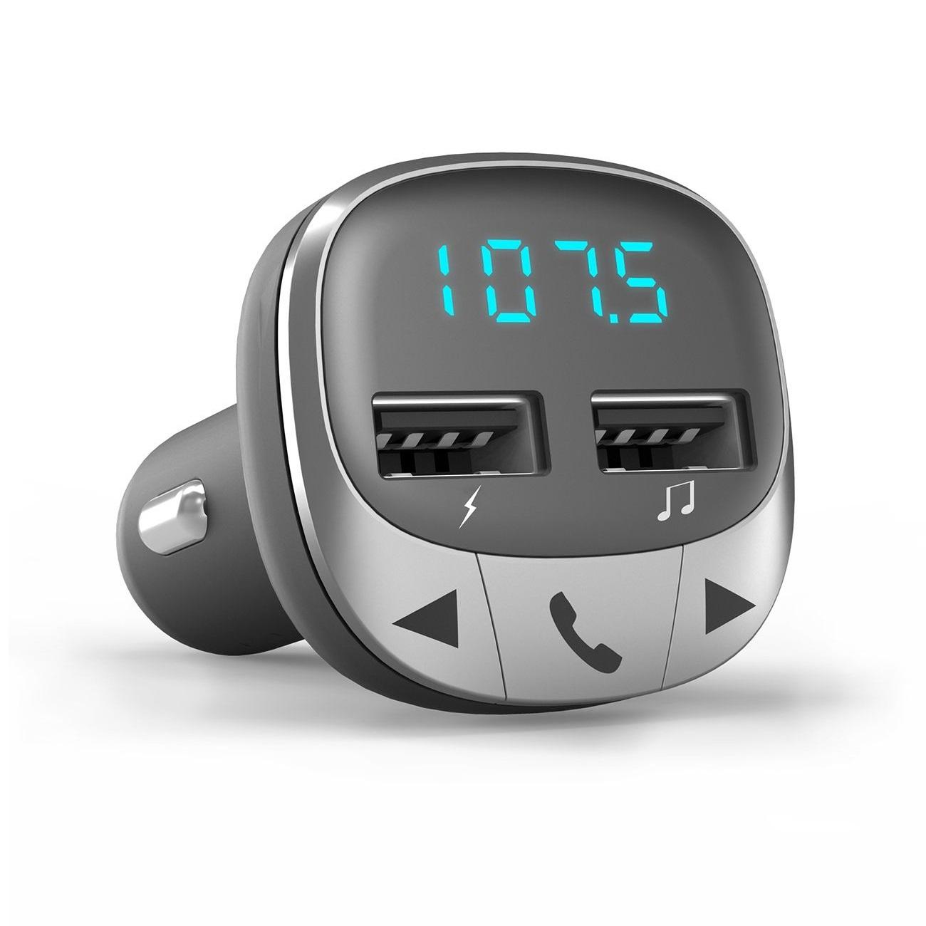 Energy Sistem 44826 transmisor FM 87,5 - 108 MHz Bluetooth Negro, Plata