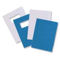 GBC LeatherGrain Binding Covers 250gsm with window A4 Blue (50)