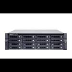 QNAP TS-h1683XU-RP NAS Rack (3U) Ethernet LAN Black E-2236
