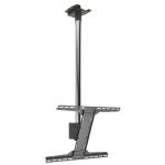 "Peerless MOD-FPSKIT200 flat panel wall mount 190.5 cm (75"") Black,Chrome"