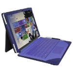 Urban Factory Elegant Imitation Leather Folio with Enlarged Stand for Microsoft Surface Pro 4, Navy (SUR34UF)