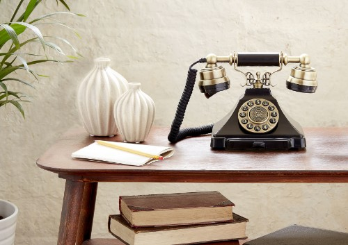 GPO Retro Duke Analog telephone Black
