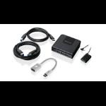 iogear GUS432CA1KIT KVM switch Black