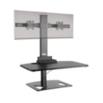 Ergotech Group Freedom Stand - Dual Black computer desk