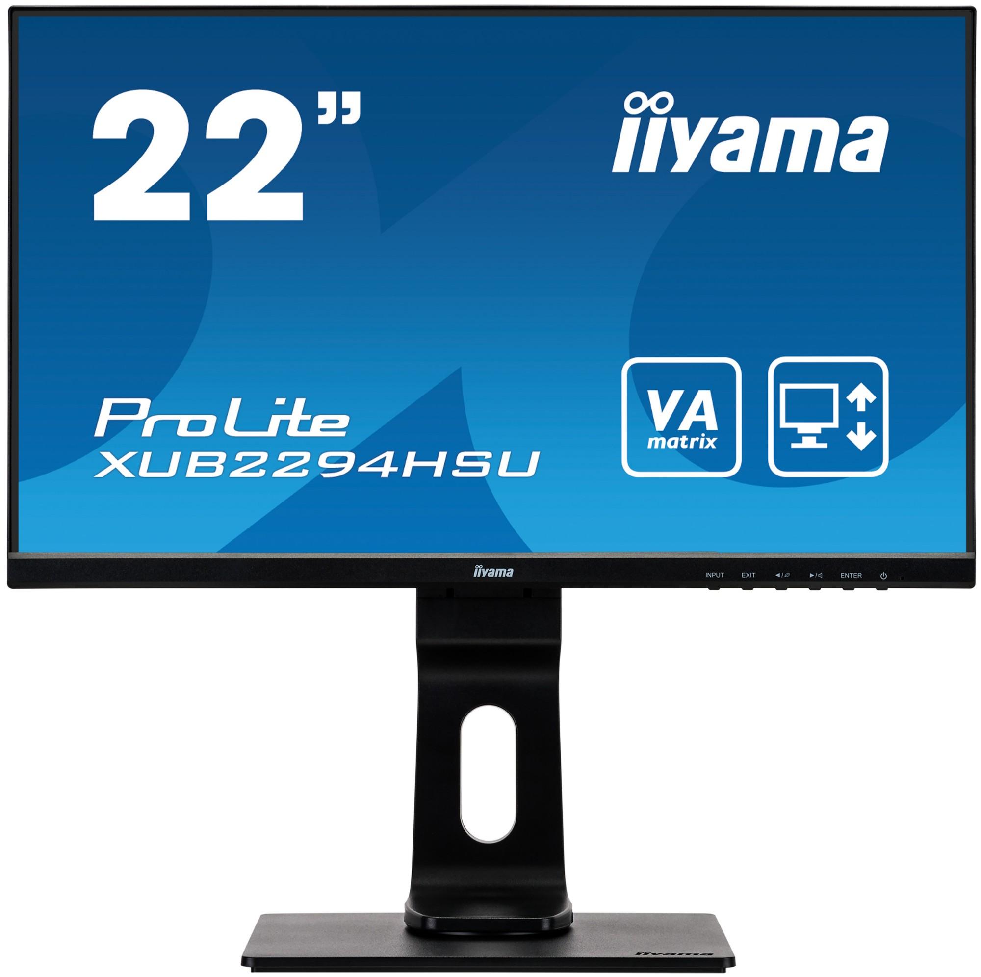 iiyama ProLite XUB2294HSU-B1 LED display 54.6 cm (21.5