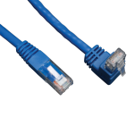 Tripp Lite Cat6 Gigabit Molded Patch Cable (RJ45 Right Angle Up M to RJ45 M) - Blue, 3.05 m