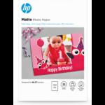 HP Matte Photo Paper-25 sht/10 x 15 cm
