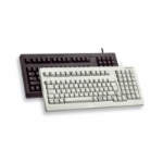 CHERRY G80-1800 Compact Corded Keyboard, Light-Grey. PS2/USB, (QWERTY - UK)