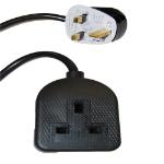 Videk 9018B 1AC outlet(s) 5m Black,White power extension