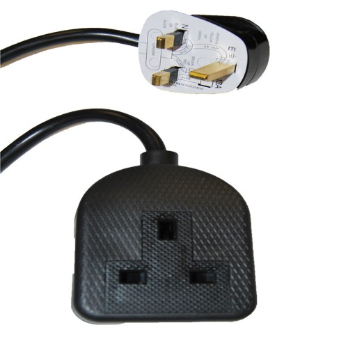 Videk 9018B power extension 5 m 1 AC outlet(s) Black, White