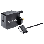 Duracell 2.4A Wall Charger-30 Pin USB Cable