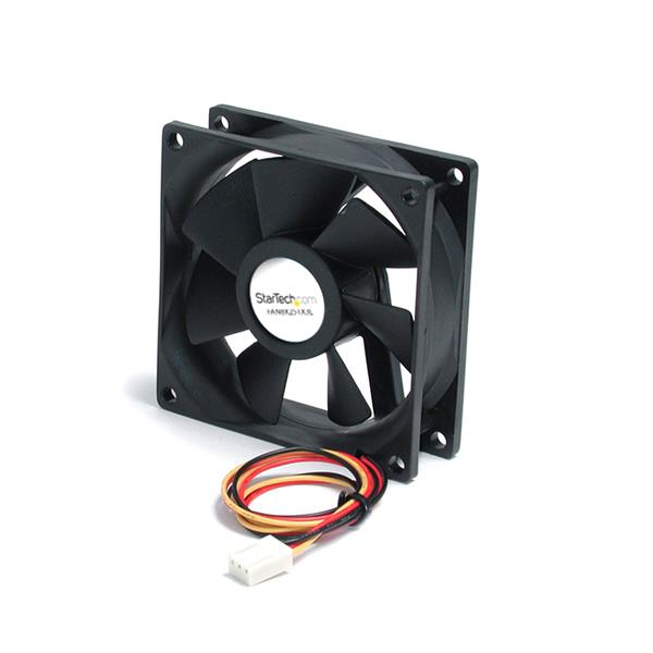 StarTech.com 80x25mm Stille Ventilator voor Computerbehuizing met Kogellagers en TX3 Connector