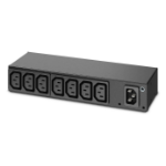 APC AP6015A 8AC outlet(s) 1U Black power distribution unit (PDU)