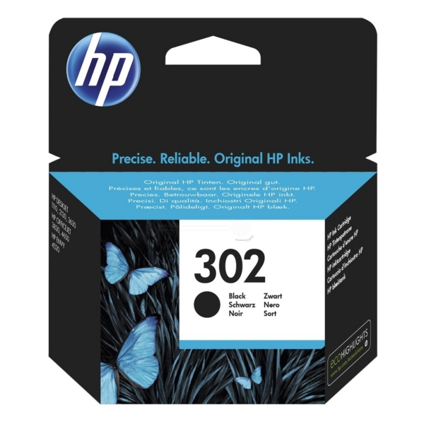 HP F6U66AE (302) Ink cartridge black, 190 pages, 4ml