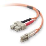 "Belkin 1m LC / SC fiber optic cable 39.4"" (1 m) OFC Orange"